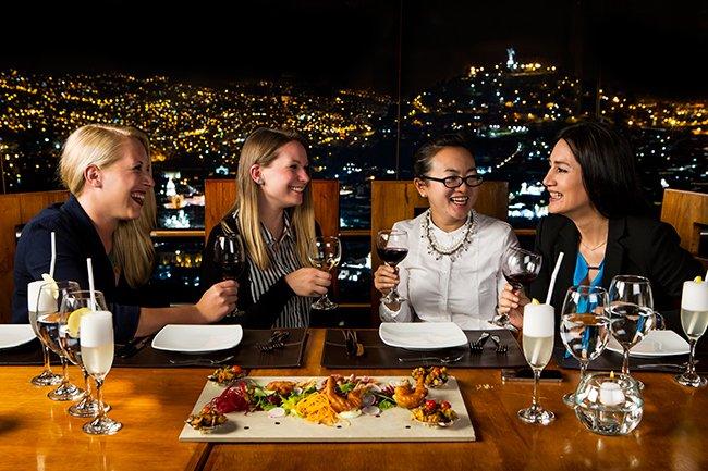 Espectacular vista al centro histórico | Restaurante El Ventanal